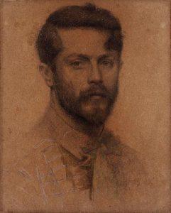 AUTORRETRATO - CARVÃO E GIZ SOBRE PAPEL - 40,2 x 32,6 cm - c.1898 - MUSEU NACIONAL DE BELAS ARTES - MNBA - RIO DE JANEIRO/RJ
