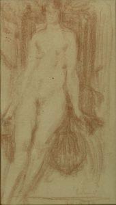NU FEMININO - SANGUÍNEA - 42,5 x 25,0 cm - 1890 - COLEÇÃO PARTICULAR