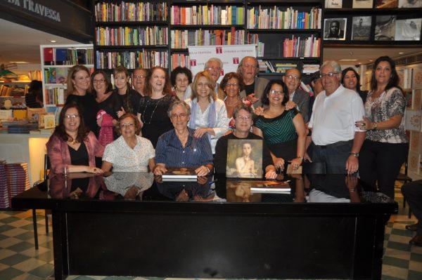 Familiares do Artista, produtores e autores do Livro Eliseu Visconti - A Arte em Movimento, No lançamento na Livraria da Travessa em 14 de Setembro de 2012