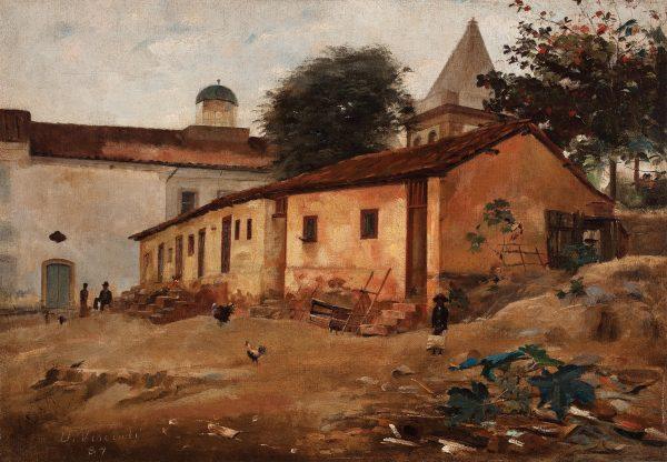 MORRO DE SÃO BENTO - OST - 37,4 x 54,0 cm - 1887 - COLEÇÃO PARTICULAR