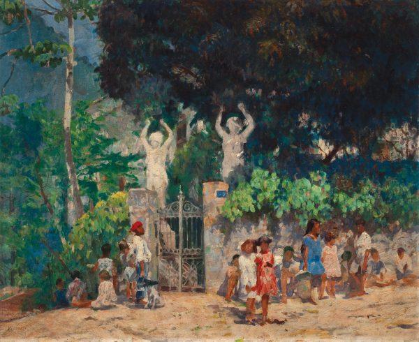 A CAMINHO DA ESCOLA - OST - 65 x 80 cm - c.1928 - MUSEU NACIONAL DE BELAS ARTES - MNBA - RIO DE JANEIRO/RJ