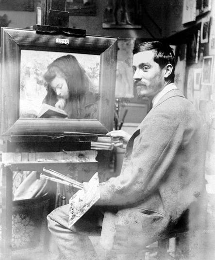 Visconti em Paris com o quadro A Leitura - 1894