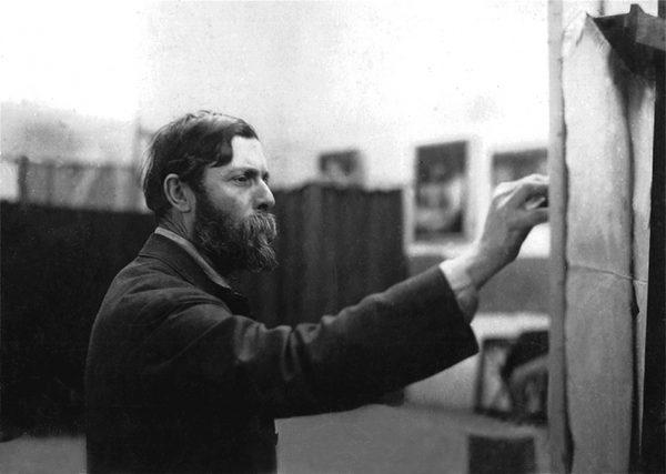 Visconti em seu atelier da Rue Didot - Paris - 1913