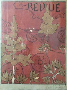 FOLHAGEM - ESTUDO PARA A CAPA DA REVUE - NANQUIM E GUACHE/PAPEL - 44,5 x 34,0 cm - 1897 - COLEÇÃO PARTICULAR