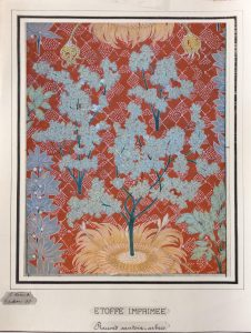 ÁRVORES/ETOFFE IMPRIMÉE - ESTUDO PARA TECIDO - GUACHE/PAPEL - 48 x 37 cm - 1897 - COLEÇÃO PARTICULAR