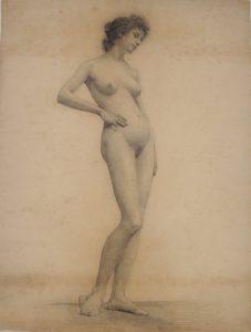 NU FEMININO - CARVÃO S/ PAPEL - 63,0 x 47,8 cm - 1893 - MUSEU NACIONAL DE BELAS ARTES - MNBA - RIO DE JANEIRO/RJ