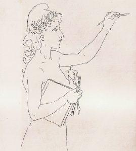 CAPA DA REVUE DU BRÉSIL EDITADA EM PARIS - ESBOÇO - CRAYON/PAPEL MANTEIGA - 46,5 x 33,0 cm - c.1896 - COLEÇÃO PARTICULAR