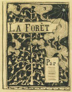 LA FORÊT - ESTUDO PARA CAPA DE LIVRO - CARVÃO/PAPEL - 58 x 45 cm - c.1900 - COLEÇÃO PARTICULAR