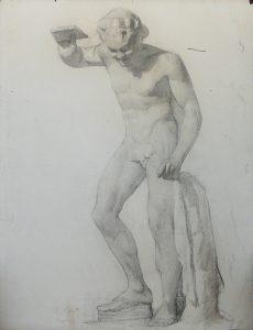 ESCULTURA - CARVÃO SBRE PAPEL - 62 x 47 cm - c.1893 - COLEÇÃO PARTICULAR