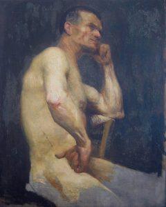NU MASCULINO SENTADO - OST - 81 x 66 cm - 1894 - MUSEU DOM JOÃO VI/ESCOLA DE BELAS ARTES - UFRJ