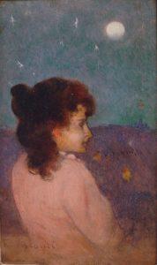 RETRATO DE MOÇA DE PERFIL - OSM - 22,0 x 12,5 cm - c.1899 - MUSEU NACIONAL DE BELAS ARTES - MNBA - RIO DE JANEIRO/RJ