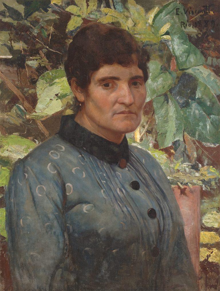 RETRATO DE SENHORA - OST - 1889 - COLEÇÃO PARTICULAR