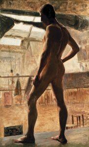 NU MASCULINO - OST - 80 x 49 cm - c.1893 - MUSEU DOM JOÃO VI/ESCOLA DE BELAS ARTES-UFRJ