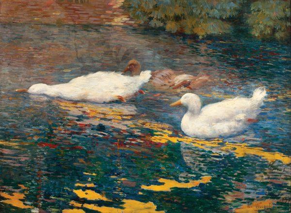 PATINHOS NO LAGO - OST - 60 x 81 cm - 1897 - COLEÇÃO PARTICULAR