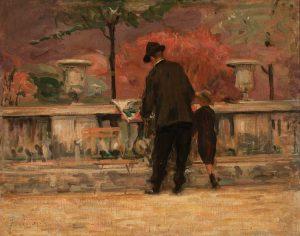 JARDIM DE LUXEMBURGO - OST - 33,0 x 41,5 cm - c.1905 - COLEÇÃO PARTICULAR