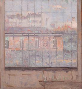 PAISAGEM VISTA DO ATELIER - OST - 43 x 40 cm - c.1915 - COLEÇÃO PARTICULAR