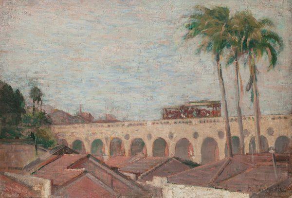 ARCOS DA LAPA - OST - 38 x 54 cm - c. 1925 - COLEÇÃO PARTICULAR