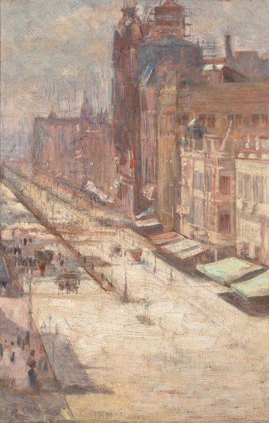 AVENIDA CENTRAL - OST - 49,5 x 32,5 cm - c.1908 - COLEÇÃO PARTICULAR