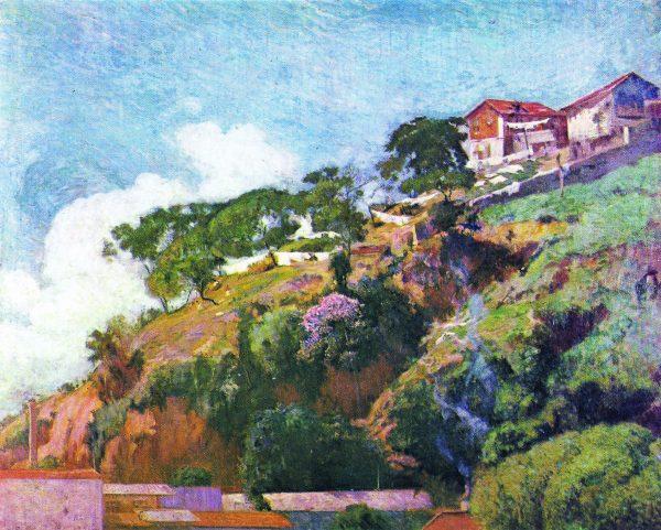 MORRO DO CASTELO - OST - 80 x 100 cm - 1909 - COLEÇÃO PARTICULAR