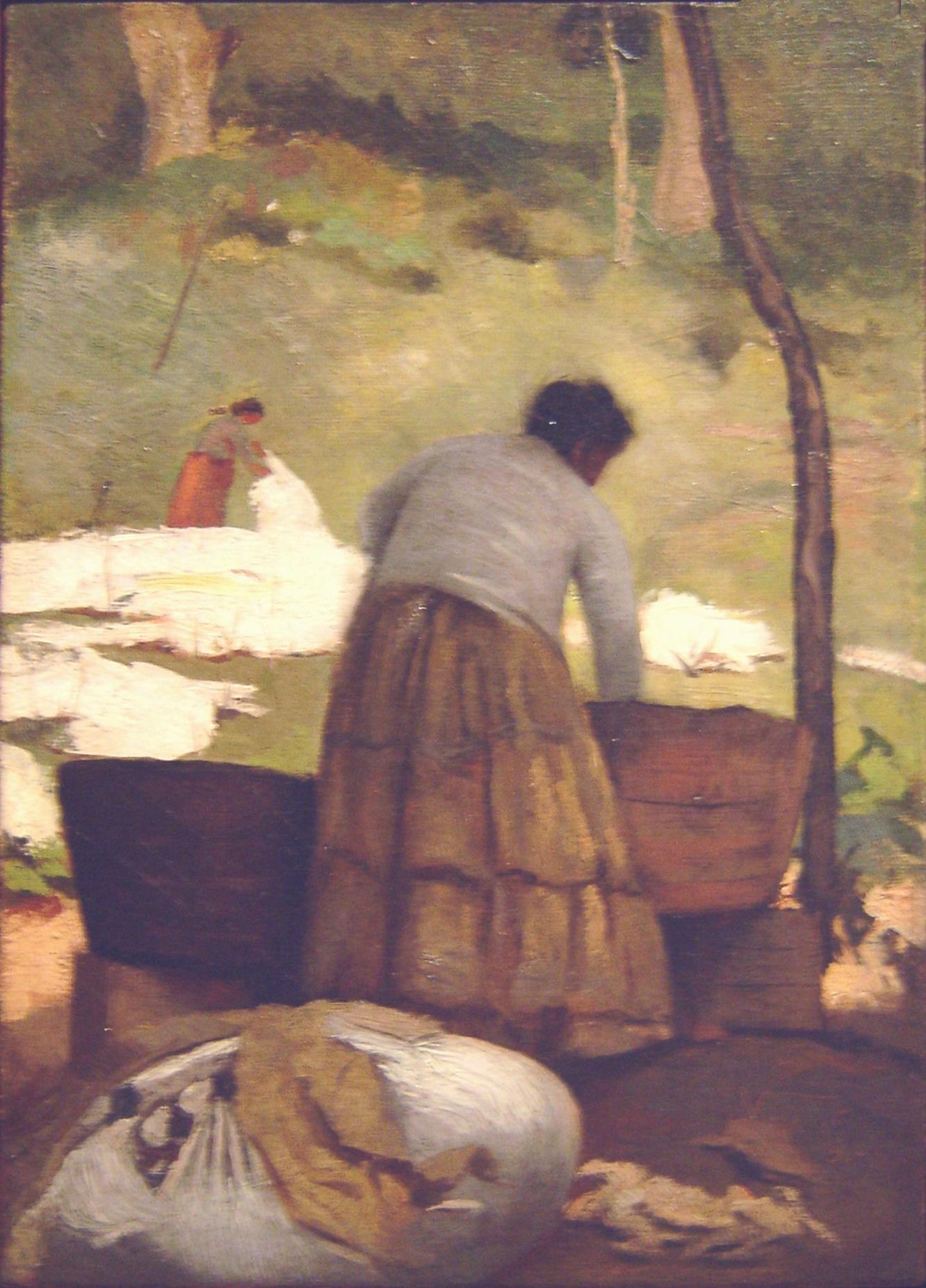 LAVADEIRAS - OST - 27 x 19 cm - 1891 - COLEÇÃO PARTICULAR