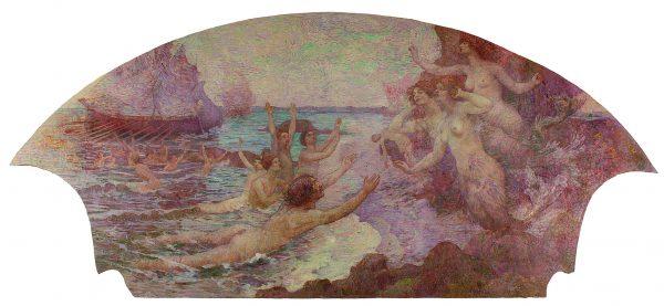 A ARTE LÍRICA – INSPIRAÇÃO MUSICAL - PAINEL LATERAL DO FOYER DO THEATRO MUNICIPAL DO RIO DE JANEIRO – ÓLEO SOBRE TELA DE LONA – 4 x 6 m – 1916