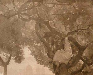IDILIO NOS CAJUEIROS - OST - 66 x 80 cm - c.1892 - LOCALIZAÇÃO DESCONHECIDA