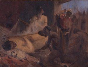 CENA BÍBLICA - LÁZARO - OST - 32,5 x 40,0 cm - c.1898 - PINACOTECA RUBEN BERTA