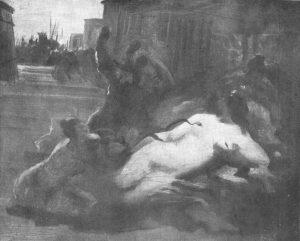 MORTE DE CLEÓPATRA - OSM - 32 x 40 cm - c.1895 - LOCALIZAÇÃO DESCONHECIDA