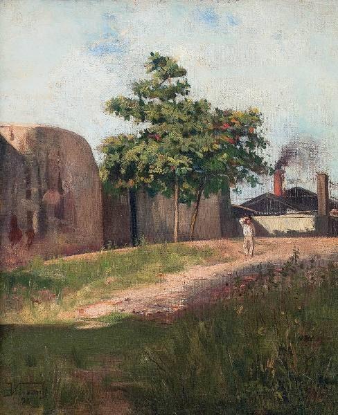 AMENDOEIRA - OSM - 41,0 x 34,5 cm - 1890 - COLEÇÃO PARTICULAR