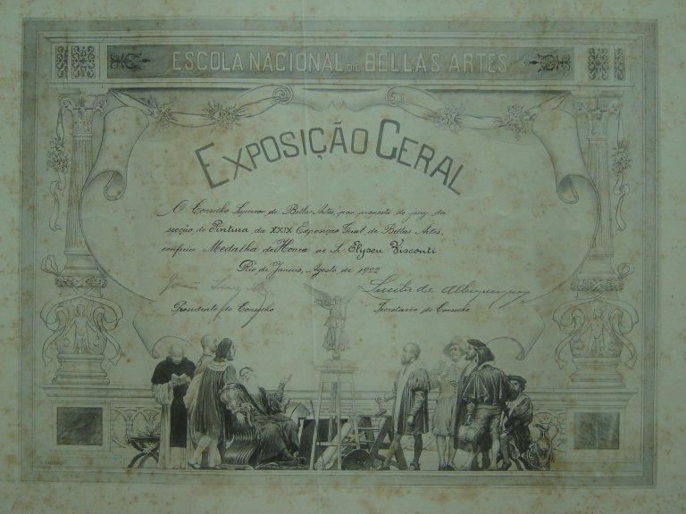 DIPLOMA DE MEDALHA DE HONRA NA XXIX EGBA