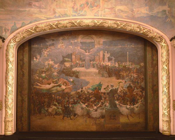 A INFLUÊNCIA DAS ARTES SOBRE A CIVILIZAÇÃO - PANO DE BOCA DO THEATRO MUNICIPAL DO RIO DE JANEIRO - ÓLEO SOBRE TELA DE LONA – 12 x 16 m - 1908