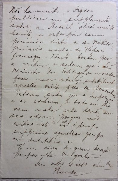 CARTA CRITICANDO NEGROS NO PANO DE BOCA - 1907 - PÁGINA 2