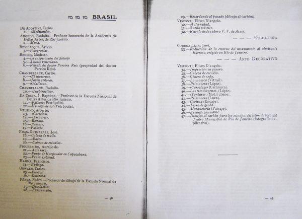 Obras de Visconti e dos demais artistas brasileiros que participaram da exposição em Santiago do Chile