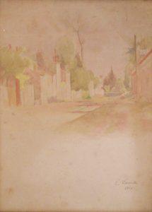 PAISAGEM DE SAINT HUBERT - AQUARELA - 36,0 x 27,0 cm - 1915 - COLEÇÃO PARTICULAR