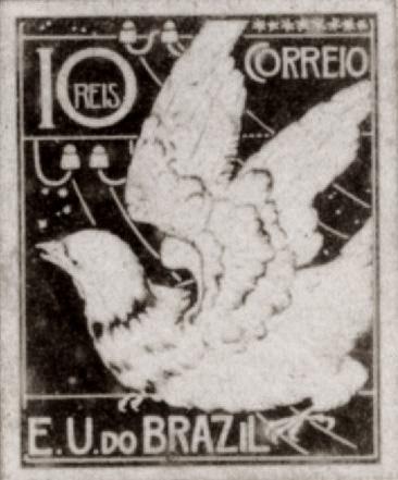 A CORRESPONDÊNCIA - PROJETO PARA SELO INTEGRANTE DA COLEÇÃO VENCEDORA DO CONCURSO DOS CORREIOS DE 1904 - NANQUIM E GUACHE/PAPEL - c.1903 - LOCALIZAÇÃO DESCONHECIDA