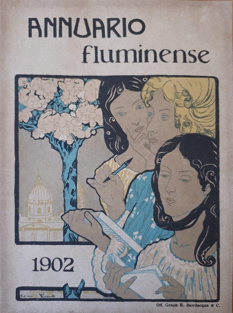 TRÊS FIGURAS FEMININAS - PROVA PARA A CAPA DO ANNUARIO FLUMINENSE 1902 - ZINCOGRAFIA/PAPEL - 19 x 14 cm - 1901 - COLEÇÃO PARTICULAR