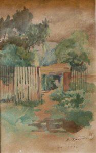 CHÁCARA DE MEU IRMÃO - ANDARAÍ - AQUARELA - 25 x 17 cm - 1906 - COLEÇÃO PARTICULAR