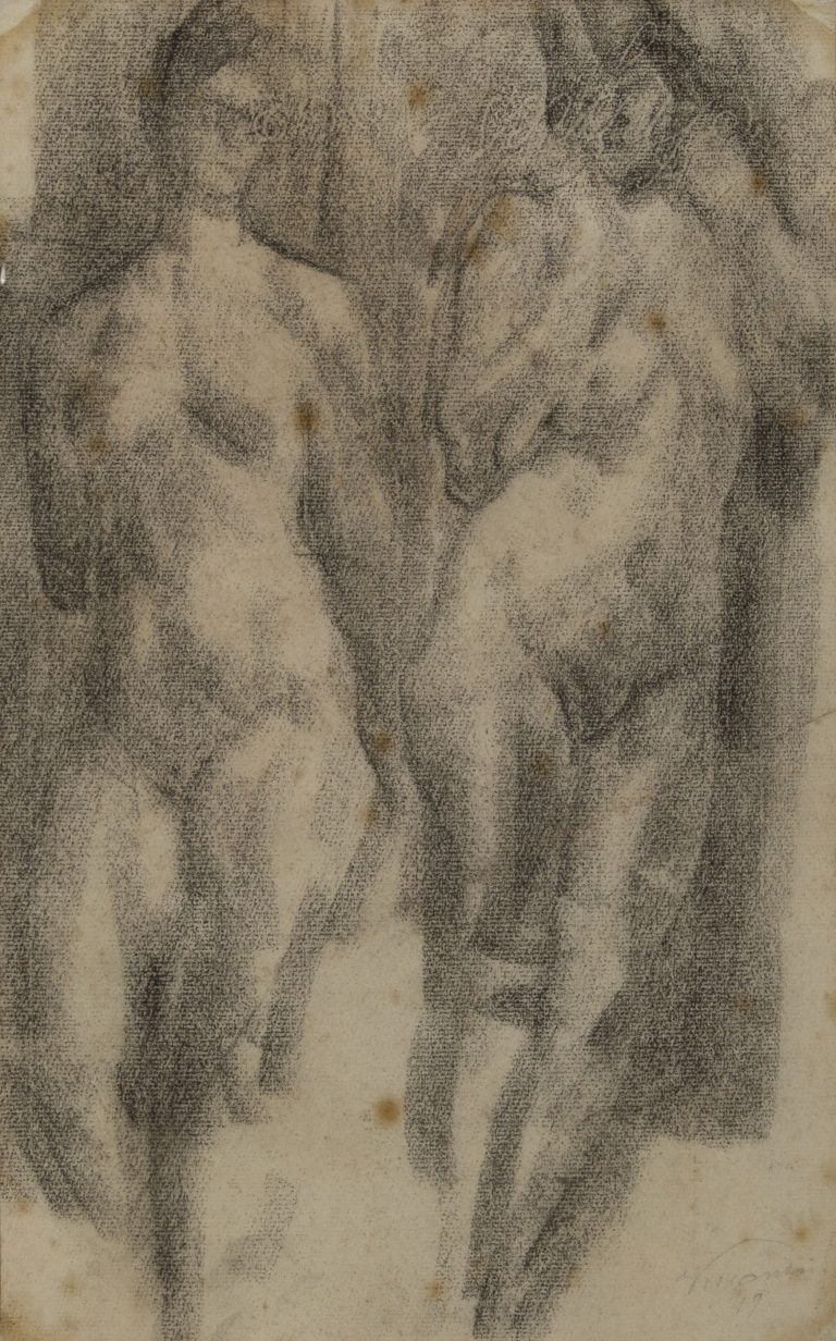 NUS FEMININOS - CARVÃO S/ PAPEL - 42 x 26 cm - c.1896 - COLEÇÃO PARTICULAR
