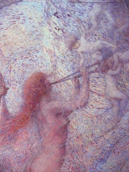 A MÚSICA – PAINEL CENTRAL DO FOYER – DETALHE – EUTERPE