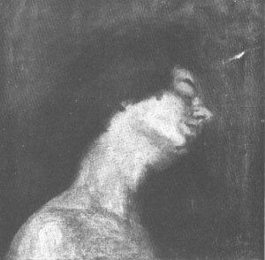 RETRATO DE PERFIL - OST - 38 x 38 cm - c.1912 - LOCALIZAÇÃO DESCONHECIDA