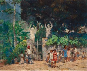 A CAMINHO DA ESCOLA - OST - 65,0 x 80,7 cm - c.1928 - MUSEU NACIONAL DE BELAS ARTES - MNBA - RIO DE JANEIRO/RJ