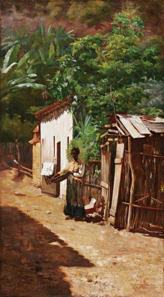 UMA RUA DA FAVELA - OST - 72 x 41 cm - c.1890 - COLEÇÃO PARTICULAR