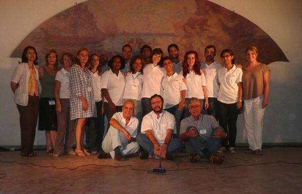 Equipe que trabalhou na restauração dos Painéis do Foyer do Theatro Municipal do Rio de Janeiro - 2009-2010