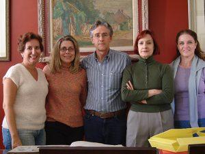 Mirian Seraphim, Isabel Visconti, Tobias Visconti, Christina Penna e Patricia Salles, em uma reunião do Projeto em 2006