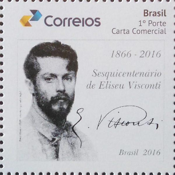 Selo Comemorativo do Sesquicentenário de Eliseu Visconti - Lançado pelos Correios em setembro de 2016