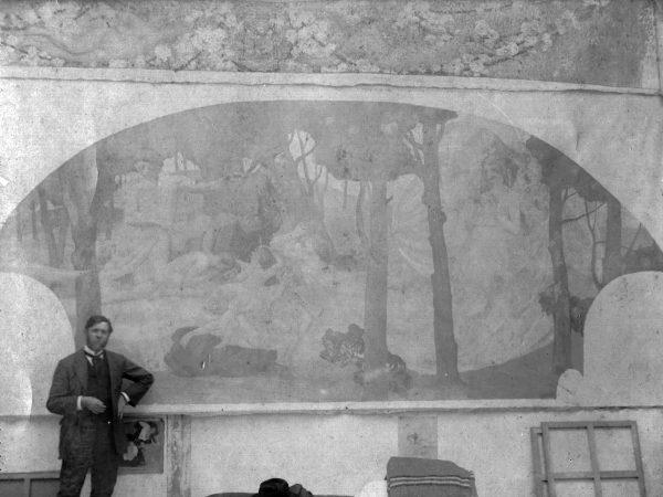 """VISCONTI EM PARIS COM O PAINEL """"O DRAMA"""" - 1915"""