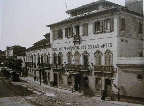 Vista do Liceu de Artes e Ofícios em 1885, quando Visconti lá estudou