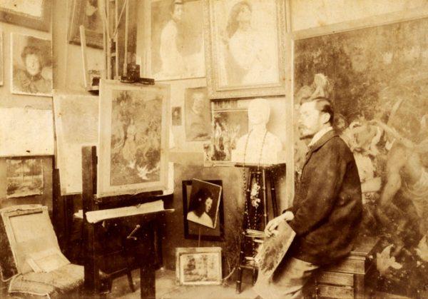 Visconti em seu atelier - Paris 1899