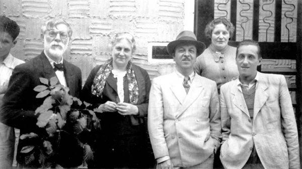 Visconti com Louise, seu genro Henrique Cavalleiro, sua filha Yvonne e seu filho Afonso - 1938