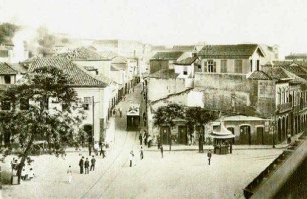 Largo da Mãe do Bispo - Local onde seria erguido o Theatro Municipal do Rio de Janeiro